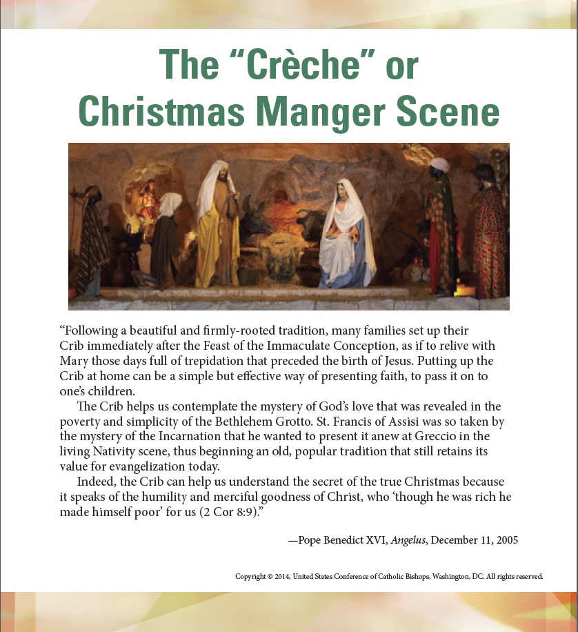 The Creche or Christmas Manger Scene